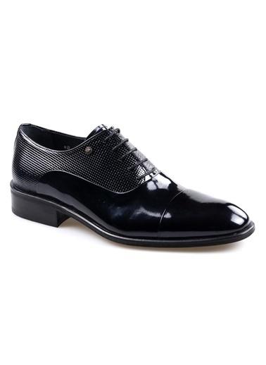 Smart Smart 1602 Siyah Erkek (39-44) Klasik Bağcıklı Rugan Deri Ayakkabı Siyah